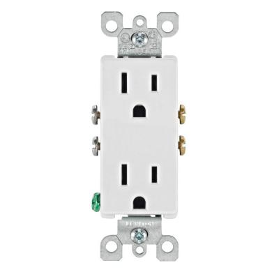 15amp White Decora Receptacle Outlet 120V | Electrical Distributors